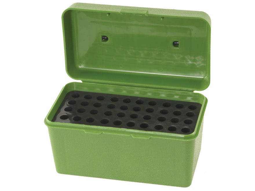 MTM Deluxe Flip-Top Ammo Box with Handle 17 Remington to 222 Remington Magnum 50-Round ...