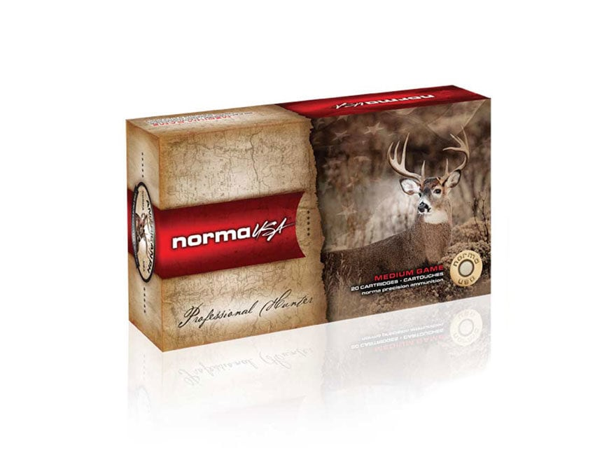 Norma USA American PH Ammunition 6.5mm-284 Norma 156 Grain Oryx Protected Point Box of 20