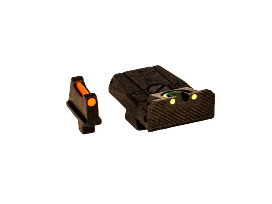 Williams Fire Sight Set Colt Series 80 Fiber Optic Red Front, Green Rear