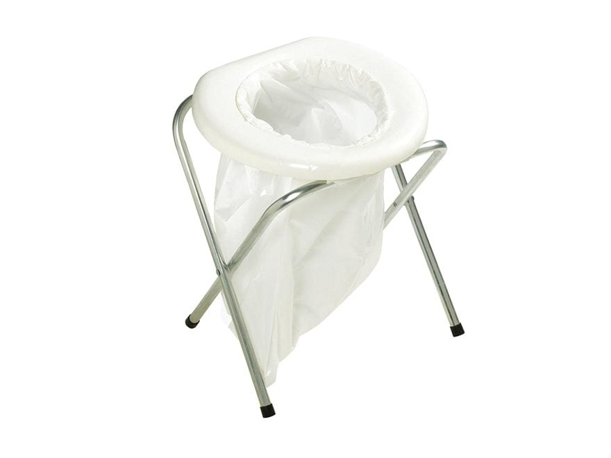 Stansport Portable Toilet Steel Frame Polymer Seat White