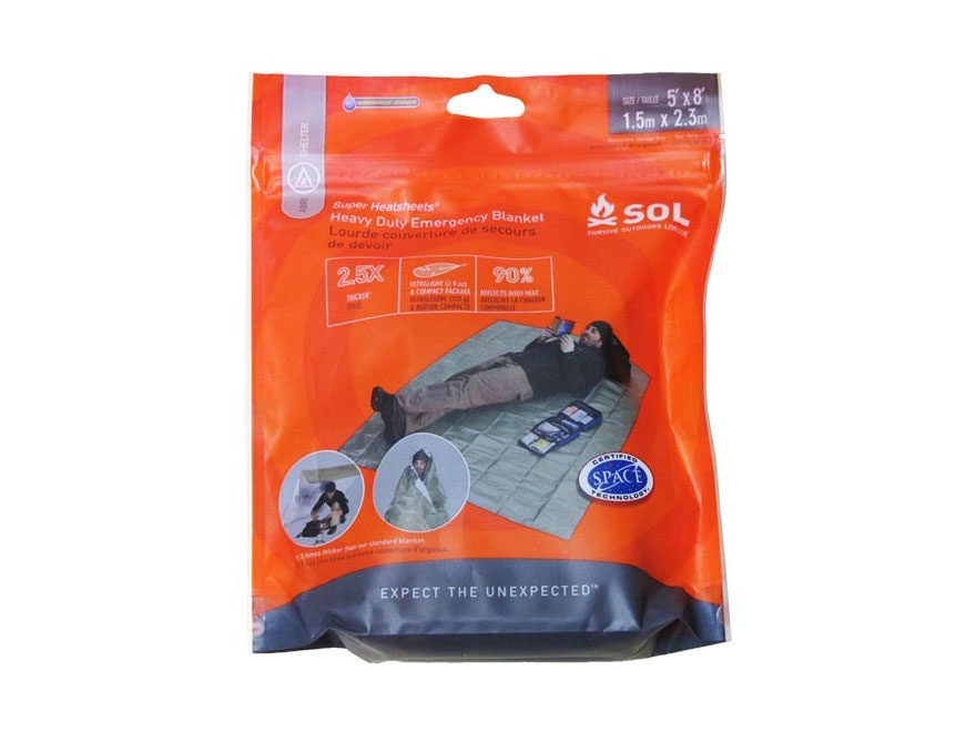 Adventure Medical Kits SOL Heavy-Duty Emergency Survival Blanket OD Green