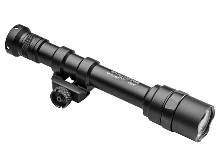 Surefire M600AAV IR Scout Light Weapon Light White and IR LED with 2 AA Batteries Alumi...