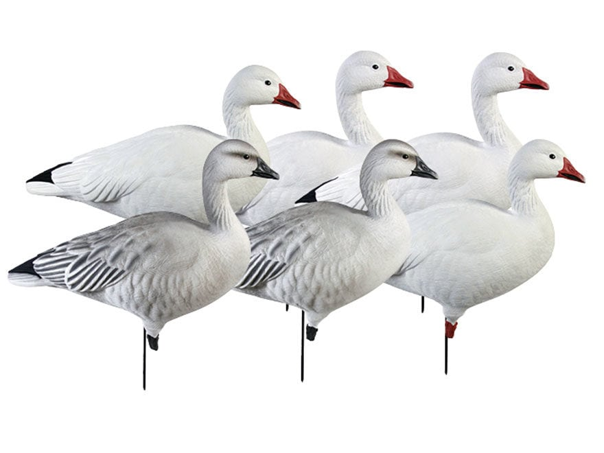 GHG Pro-Grade Full Body Snow Goose Decoy Pack of 6