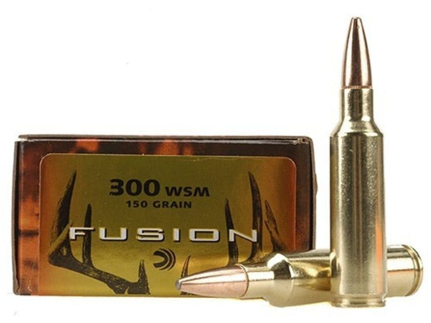 Federal Fusion Ammunition 300 Winchester Short Magnum (WSM) 150 Grain Spitzer Boat Tail...