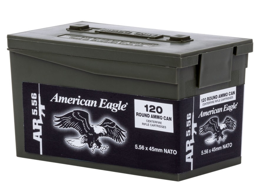 Federal American Eagle AR Ammunition 5.56x45mm NATO 62 Grain XM855 SS109 Penetrator Ful...