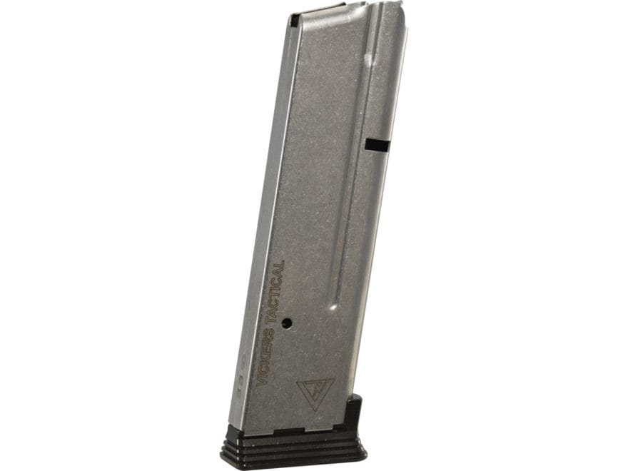 Wilson Combat Vickers Duty Magazine ETM-V with Base Pad 1911 Government, Commander 9mm ...