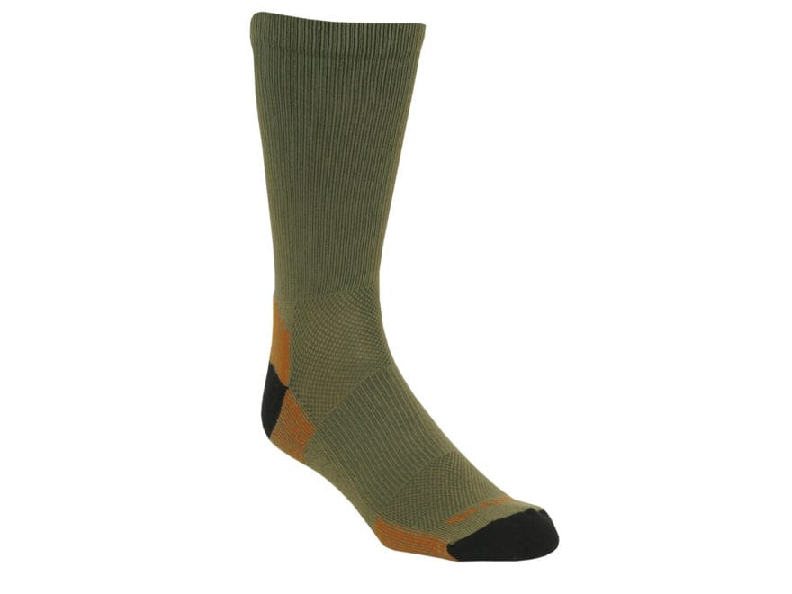 Kenetrek Men's Canyon Lightweight Crew Socks Synthetic Blend Green 1 Pair