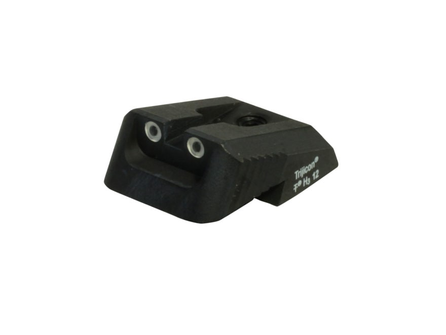 Ed Brown Rear Night Sight Fixed Low Profile 2 Dot Steel Black