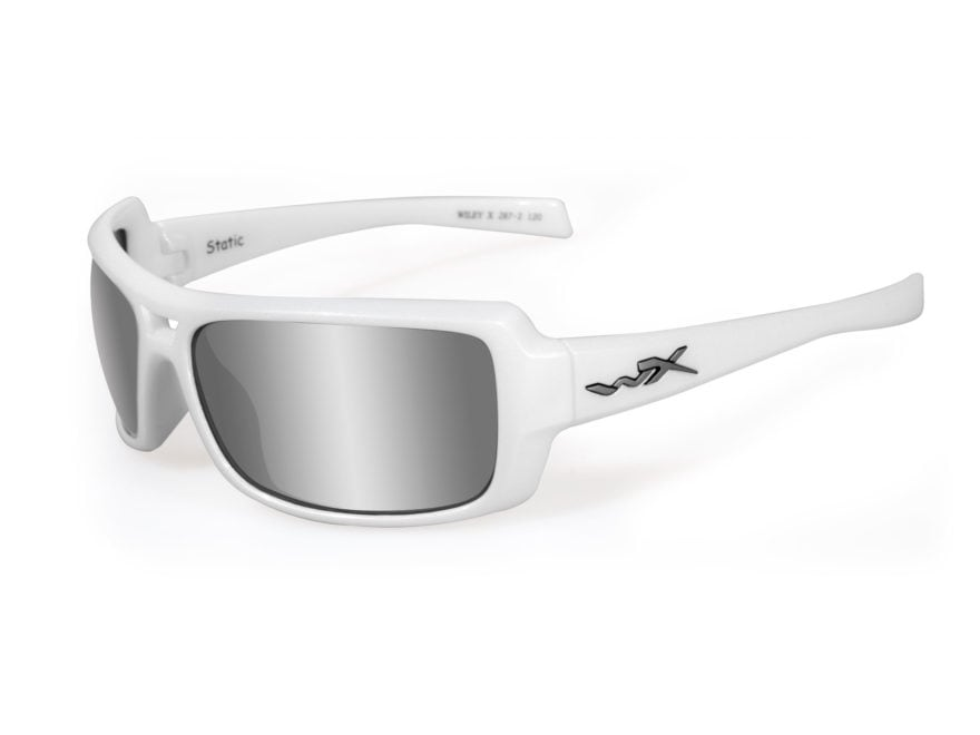 ef0479515d0e Wiley X Black Ops WX Static Shooting Safety Glasses Pearl White Frame  Silver Flash Lens