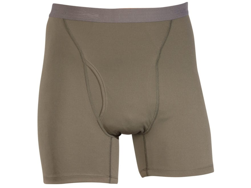 Sitka Gear Men's Core Silk Weight Boxer Underwear Polyester Pyrite