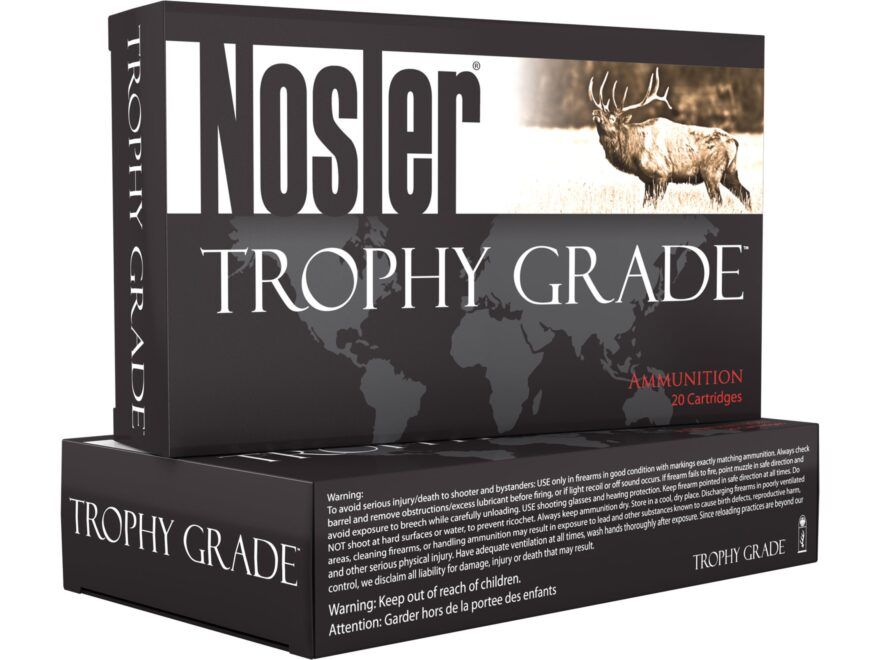 Nosler Trophy Grade Ammunition 270 Winchester 130 Grain AccuBond Box of 20