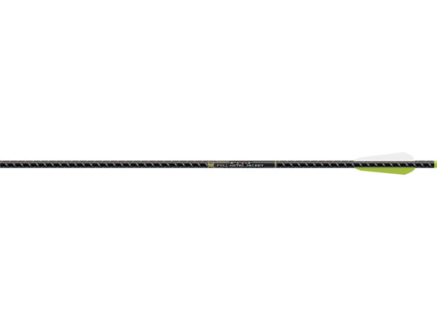 "Easton Full Metal Jacket 22"" Aluminum and Carbon Crossbow Bolt 3"" BTV Vanes Flat Back N..."