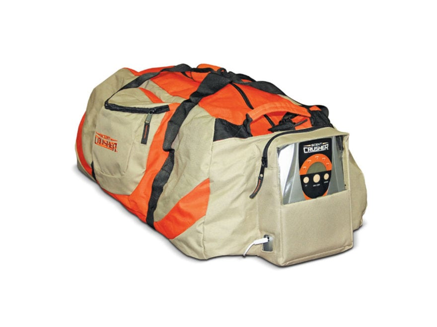 Scent Crusher Gear Bag Ozone Scent Elimination Device Nylon Tan and Orange