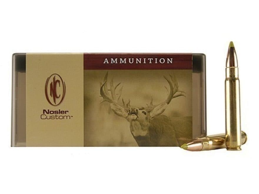 Nosler Custom Ammunition 300 Remington Ultra Magnum 150 Grain AccuBond Spitzer Box of 20