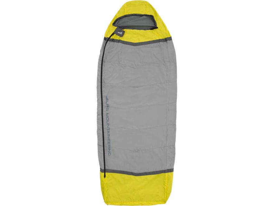 ALPS Mountaineering Sundown Mummy Sleeping Bag Liner Polyester Citrus/Coal