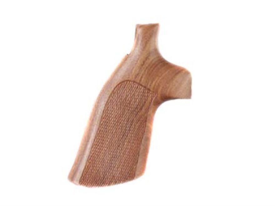 Hogue Fancy Hardwood Grips Colt 38 SF-VI Checkered