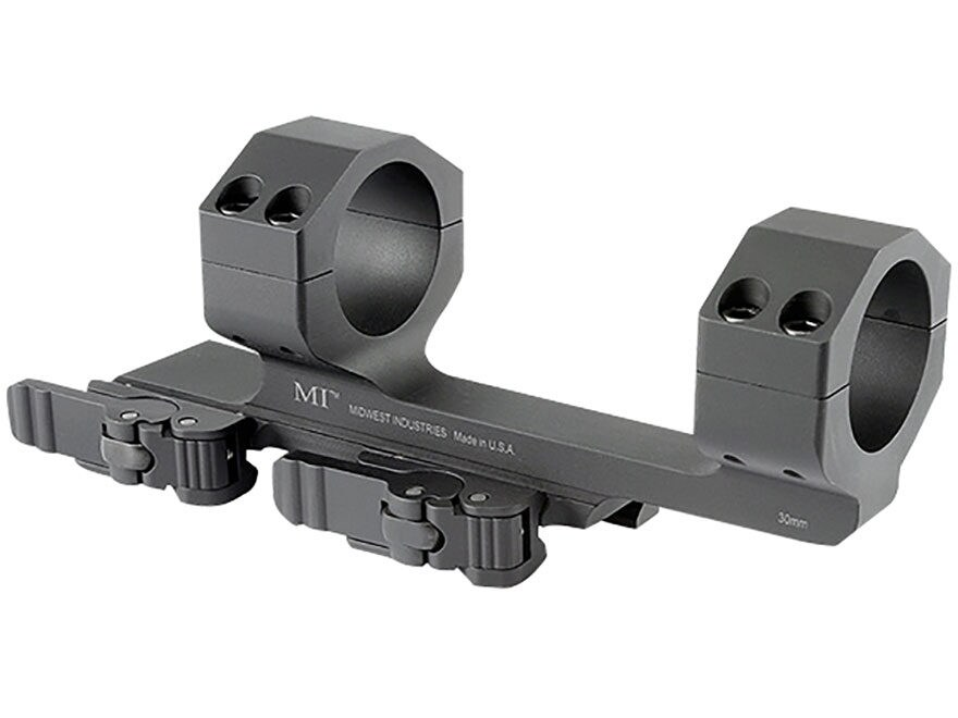 "Midwest Industries 30mm QD Scope Mount Picatinny-Style with 1.4"" Offset Matte"