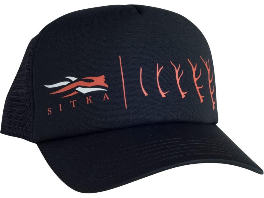 Sitka Gear Antler Evolution Elk Foam Trucker Hat Black One Size Fits All