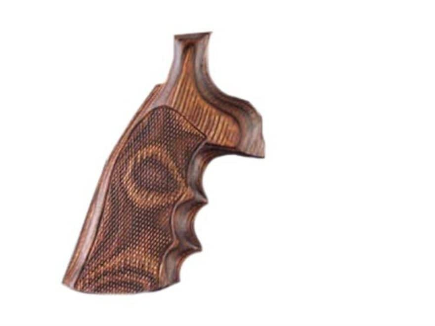 Hogue Fancy Hardwood Grips with Finger Grooves Taurus Medium and Large Frame Revolvers ...