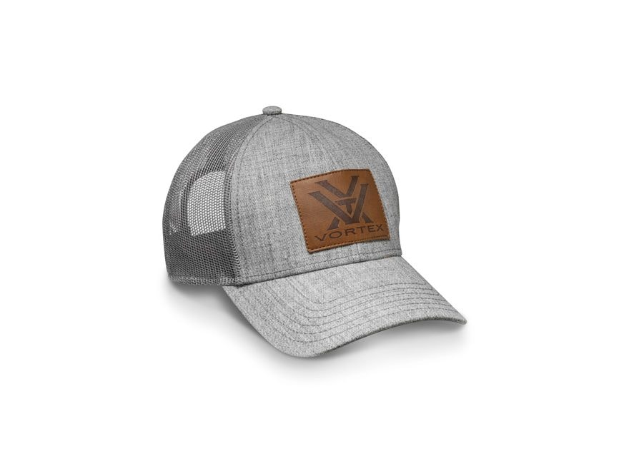 Vortex Optics Heather Gray Leather Patch Cap Cotton/Polyester Gray