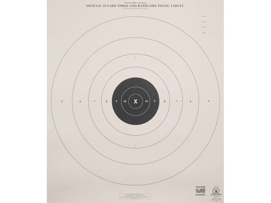 photograph regarding Nra B-8 Target Printable titled NRA Formal Pistol Ambitions B-8(P) 25 Backyard garden Timed and Fast Hearth Paper Offer of 100