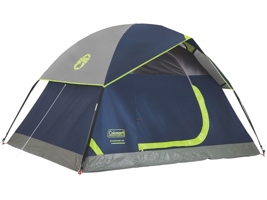 "Coleman SunDome 2 Man Dome Tent 60"" x 84"" x 48"" Polyester Navy and Gray"