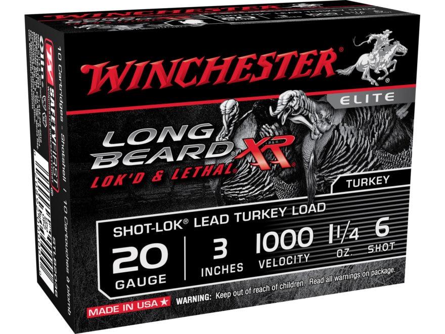 Winchester Long Beard XR Turkey Ammunition 20 Gauge Copper Plated Shot