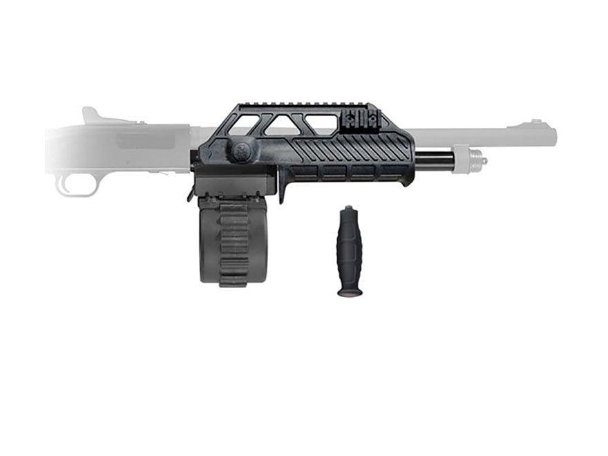 Adaptive Tactical Sidewinder Venom Kit Mossberg 590 10-Round Drum Magazine 12 Gauge Black