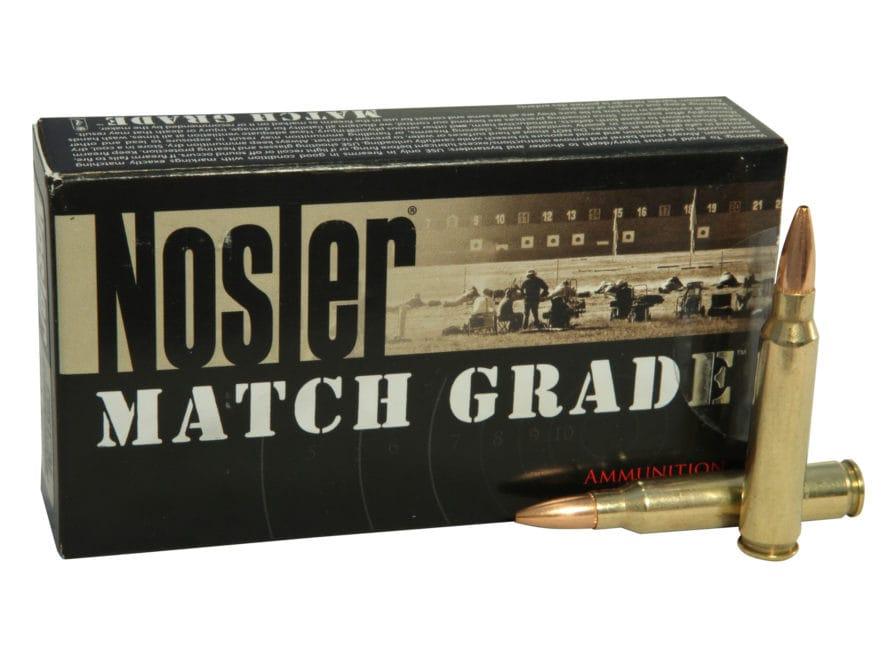 Nosler Match Grade Ammunition 223 Remington 69 Grain Custom Competition Match Box of 20