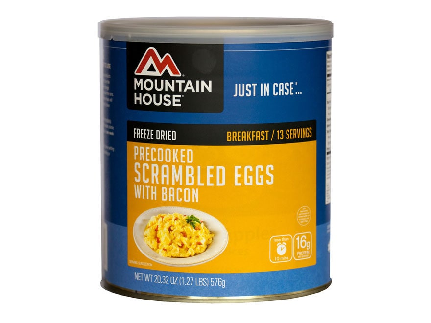 Mountain House 13 Serving Scrambled Eggs with Bacon Freeze Dried Food #10 Can