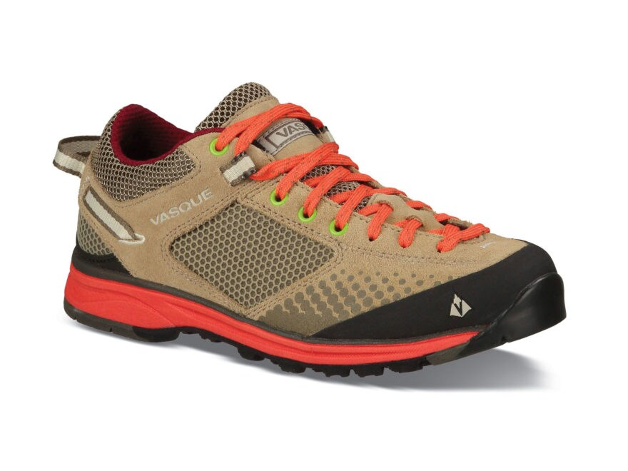 """Vasque Grand Traverse 4"""" Hiking Shoes Leather and Nylon Aluminum and Hot Coral Women's"""