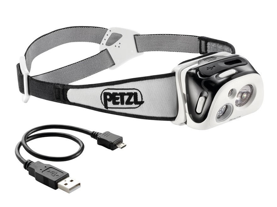 Petzl Reactik Reactive Lighting Headlamp LED with Rechargeable Li-Ion Battery Polymer B...