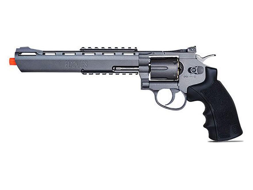 """Black Ops Exterminator Revolver 8"""" Barrel Air Pistol 177 Caliber BB"""