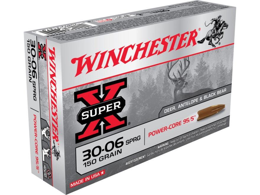 Winchester Super-X Power-Core 95/5 Ammunition 30-06 Springfield 150 Grain Hollow Point ...