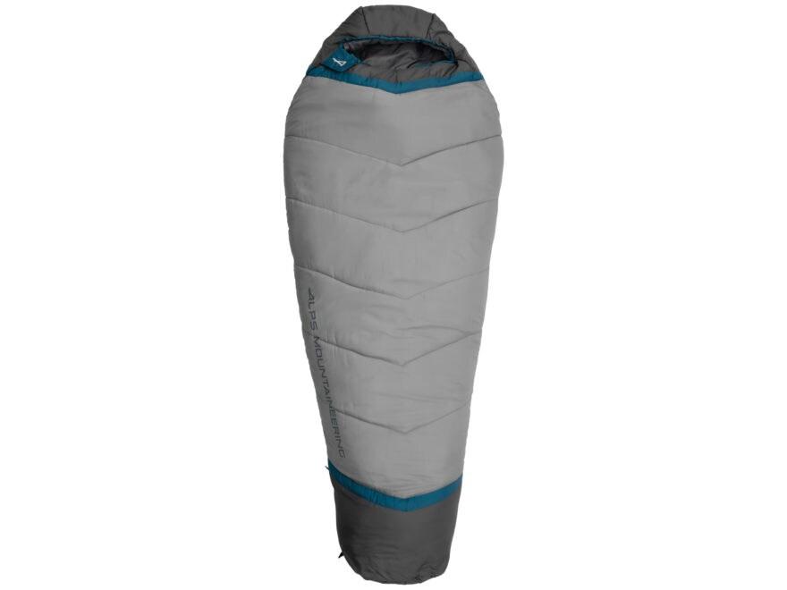 ALPS Mountaineering Blaze Mummy Sleeping Bag Polyester Blue Coral/Coal