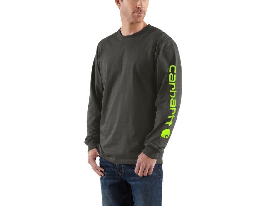 Carhartt Men's Signature Logo T-Shirt Long Sleeve