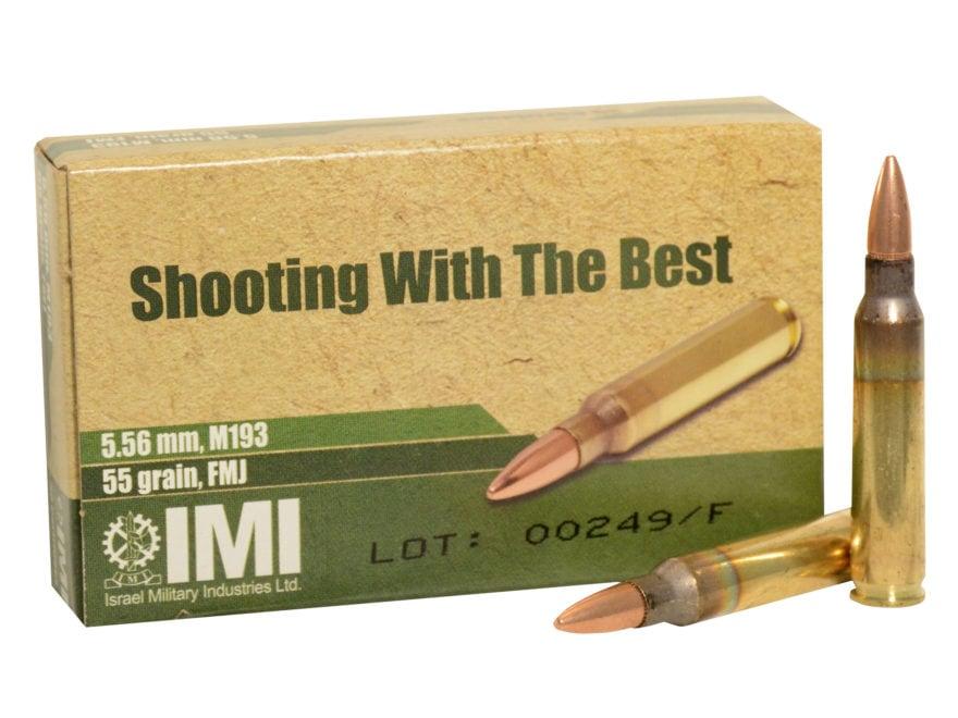 IMI Ammunition 5.56x45mm NATO 55 Grain M193 Full Metal Jacket Boat Tail