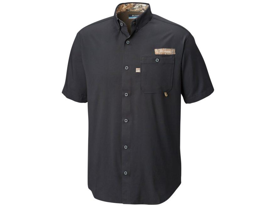 Columbia Men's PHG Bucktail Button-Up Shirt Short Sleeve Polyester