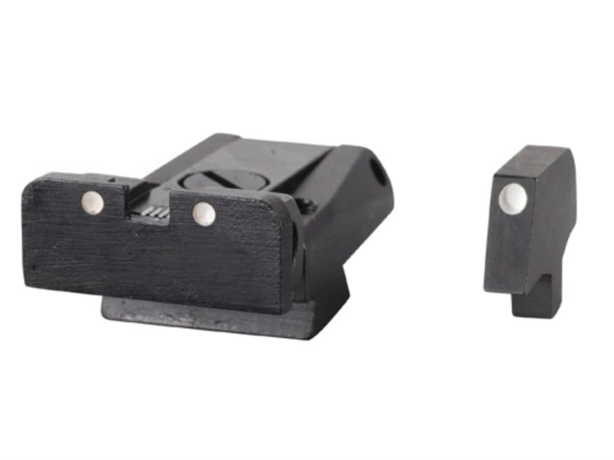 LPA SPR Sight Set 1911 Government with Wide Tenon Front Sight Steel 3-Dot