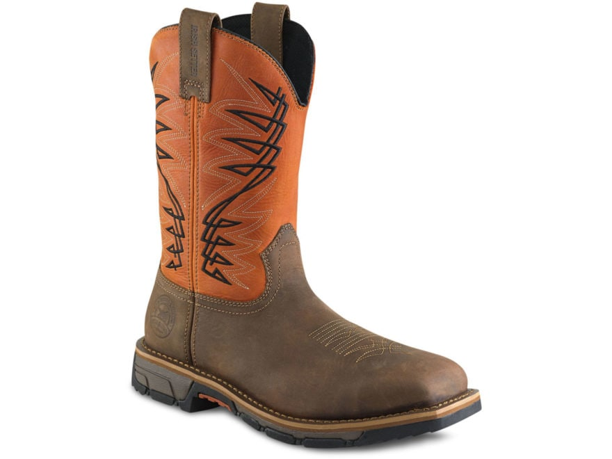 "Irish Setter Marshall 11"" Square Steel Toe Work Boots Leather Brown/Rust Men's"