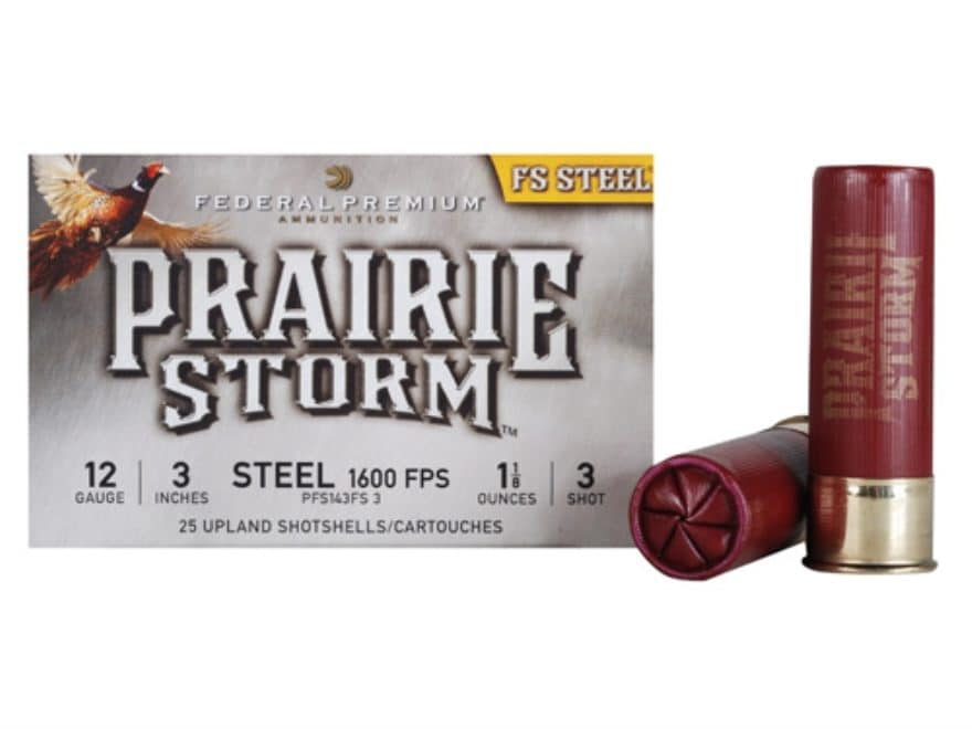 "Federal Premium Prairie Storm Ammunition 12 Gauge 3"" 1-1/8 oz Steel Shot"