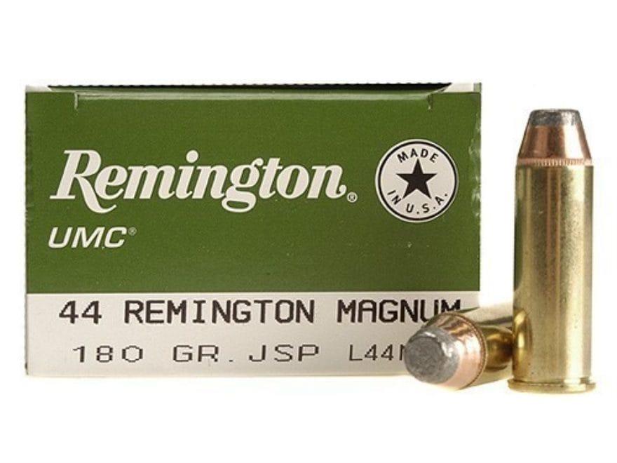 Remington UMC Ammunition 44 Remington Magnum 180 Grain Jacketed Soft Point Box of 50