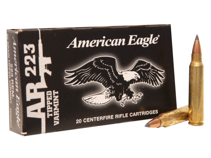Federal American Eagle AR Ammunition 223 Remington 50 Grain Tipped Varmint