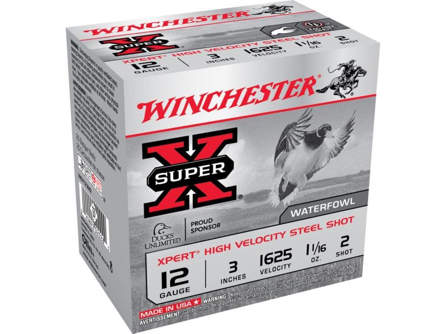 "Winchester Xpert High Velocity Ammunition 12 Gauge 3"" 1-1/16 oz #2 Non-Toxic Steel Shot"