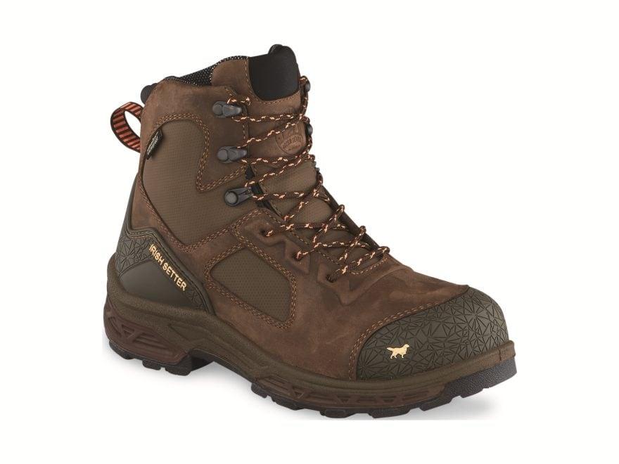 "Irish Setter Kasota 6"" Non-Metallic Safety Toe Waterproof Work Boots Leather/Synthetic ..."