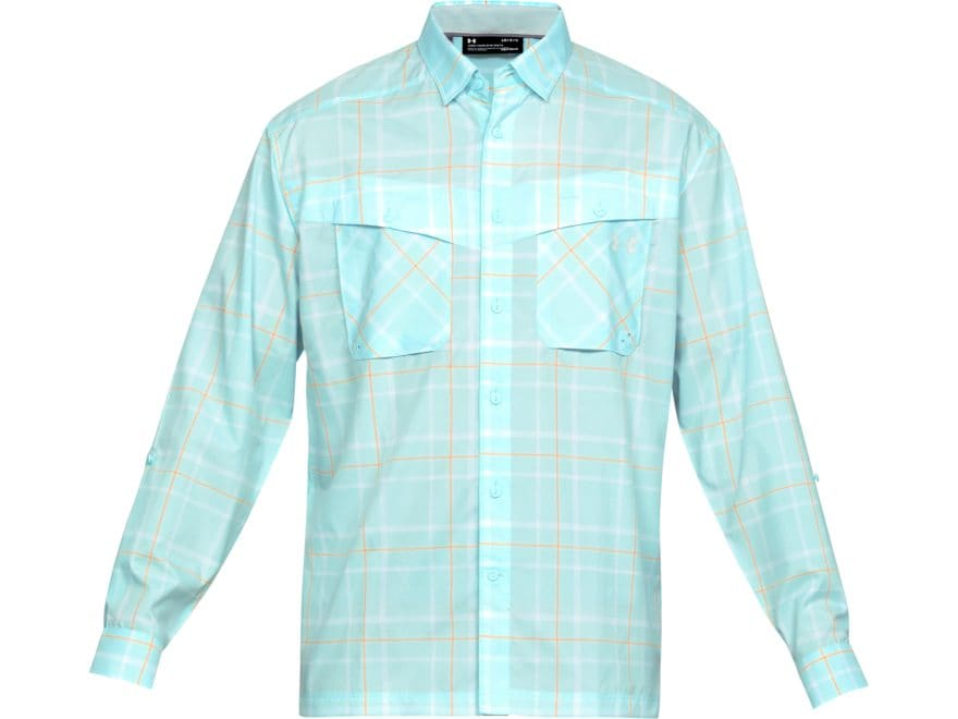 Under Armour Men's UA Tide Chaser Plaid Button-Up Long Sleeve Shirt Polyester