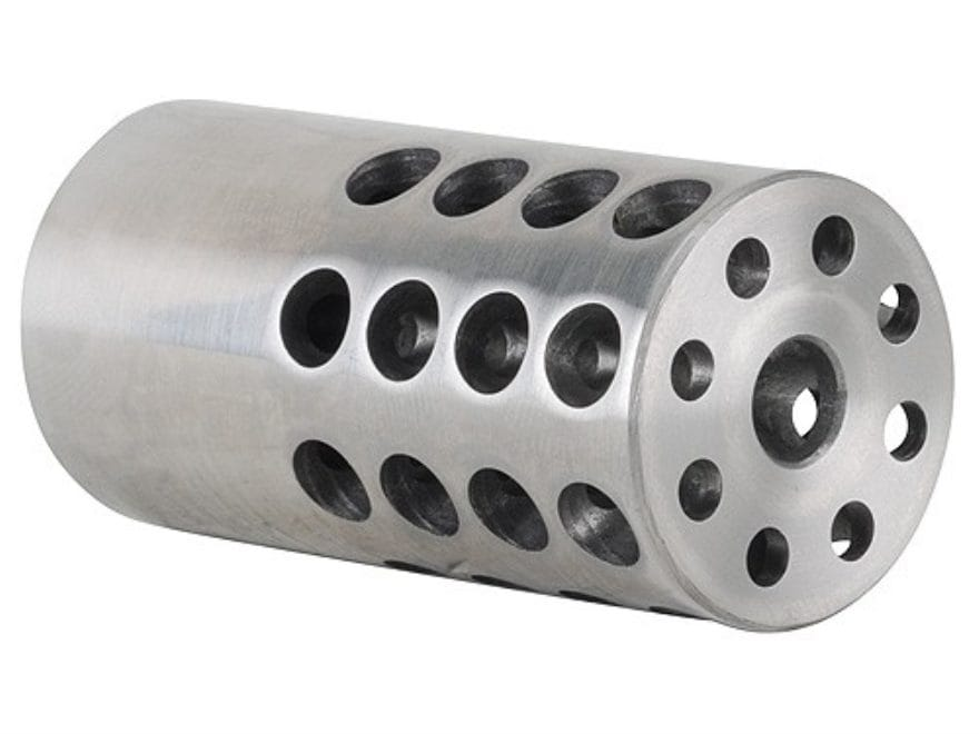 "Vais Muzzle Brake 1"" 243 Caliber, 6mm 11/16""-24 Thread 1"" Outside Diameter x 2"" Length ..."