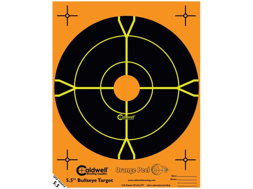 """Caldwell Orange Peel Targets 5-1/2"""" Adhesive Bullseye Pack of 50"""