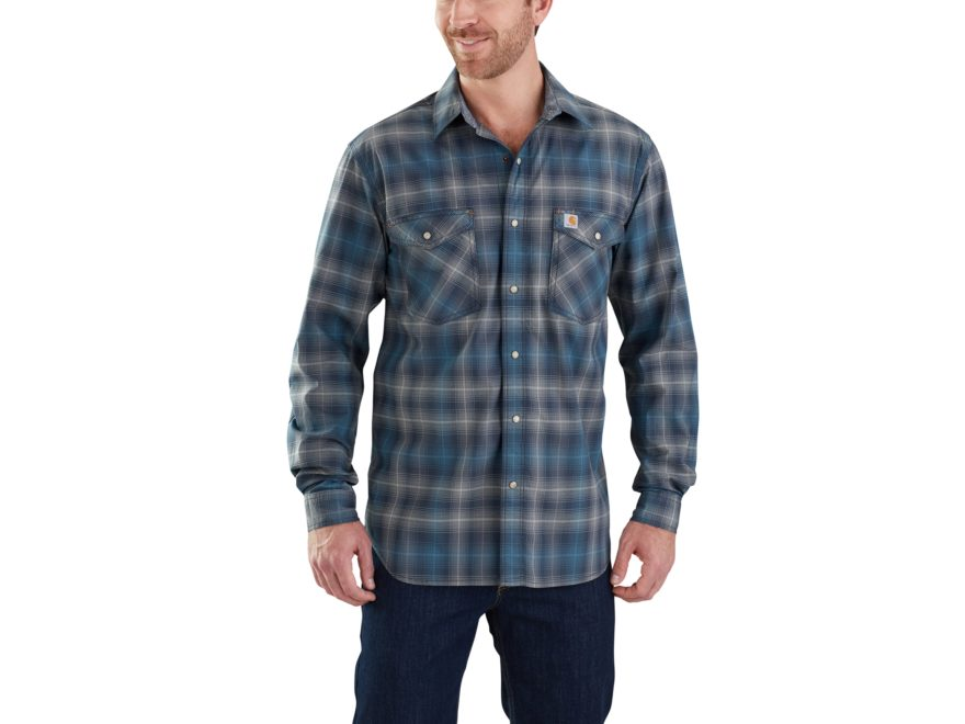 Carhartt Men's Rugged Flex Bozeman Snap Front Long Sleeve Cotton/Spandex