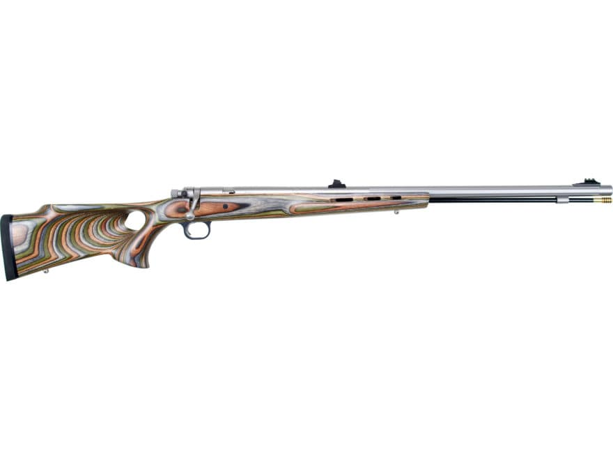 "Knight Mountaineer Full Plastic Jacket Muzzleloading Rifle .45 Caliber 27"" Fluted Stain..."
